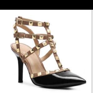 BCBG inspired Studded Patten Leather Heels- sz 8